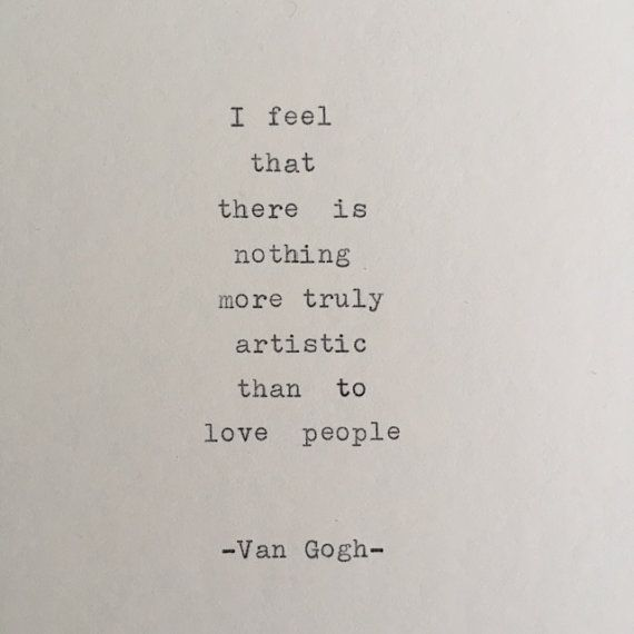 Vincent van Gogh typewriter quote / typewriter quote   Etsy