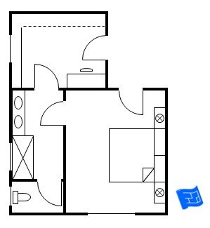 Master bedroom floor plan with entrance straight into the bedroom then a door leads to the Entrance to master bedroom