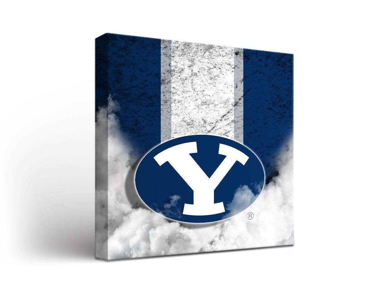 Byu Cougars Vintage Canvas Print Square Vintage Canvas Canvas Prints Canvas