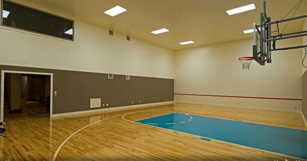 Indoor Half Court Home Basketball Court Home Interior Design House Interior