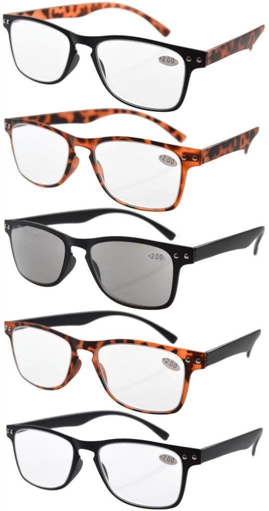 1d60e71c7d5 Amazon.com  Eyekepper Ultrathin Flex Frame 5-pack 80 s Wayfarer Reading  Glasses Sun Readers  Health   Personal Care