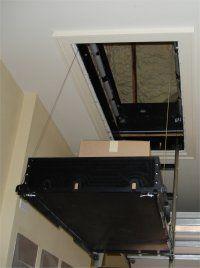 Attic lift attic pinterest attic lift attic and for Garage attic lift elevator