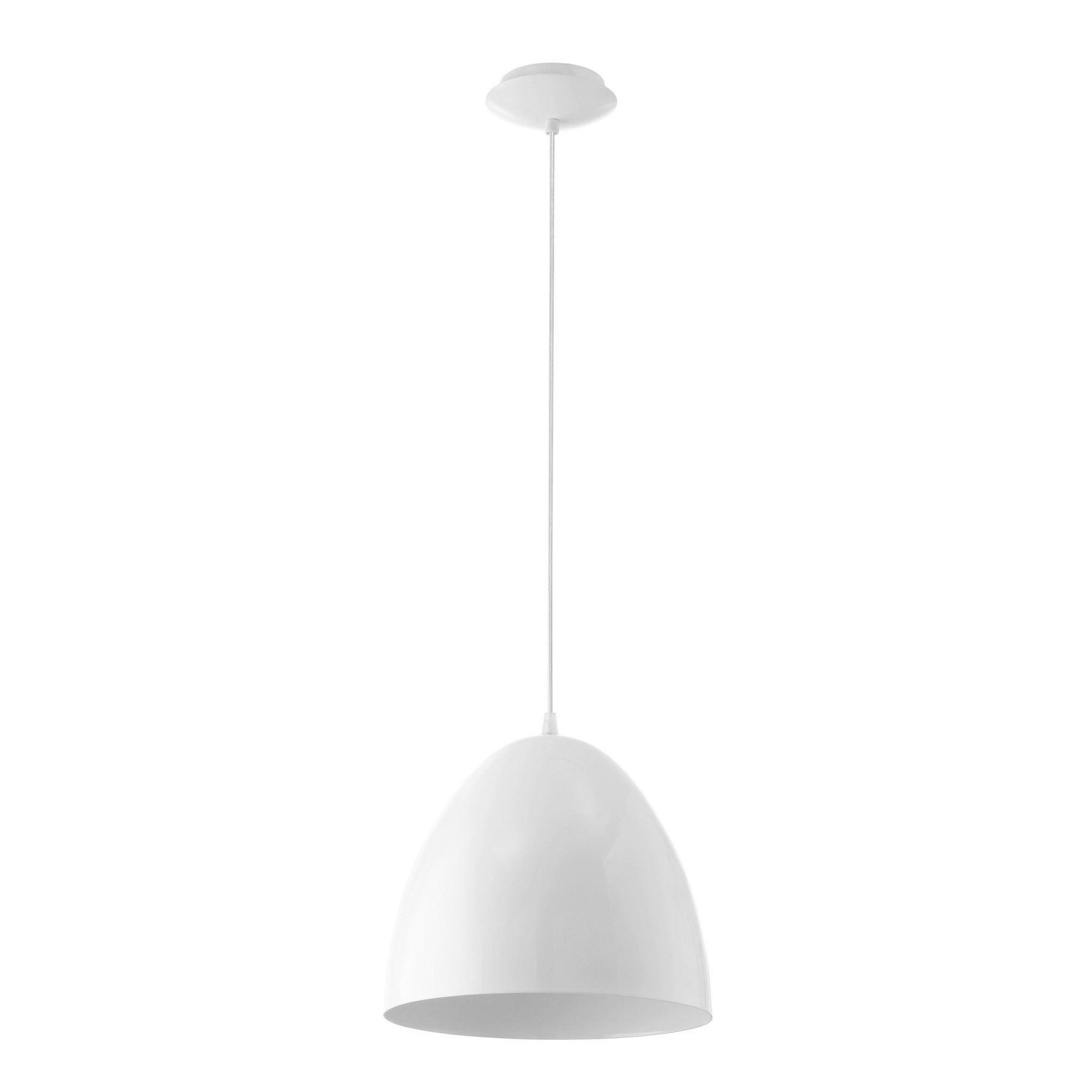 Eglo Usa Coretto Glossy Pendant Light  A Shapely Shade