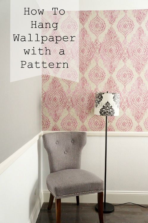 How To Hang Wallpaper With A Pattern How To Hang Wallpaper Diy Wallpaper Basement Guest Rooms