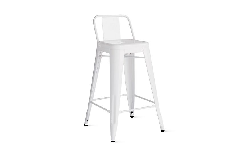 Surprising Tolix Marais Counter Stool With Low Back Bar Counter Squirreltailoven Fun Painted Chair Ideas Images Squirreltailovenorg