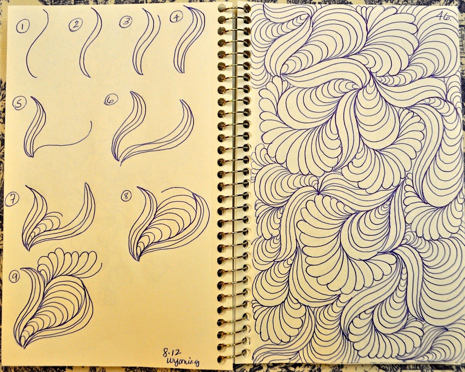 Quilting Sketch Book Background Fill Zentangle Patterns Doodle Patterns Tangle Art