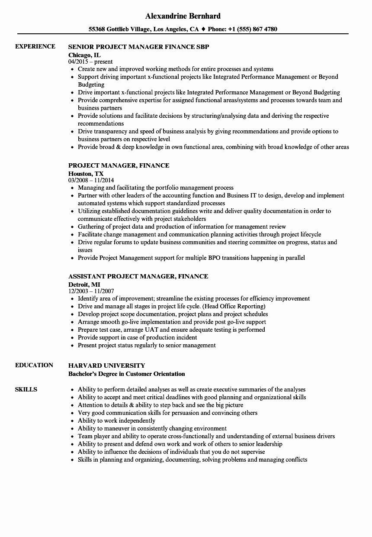 23 project manager job description resume in 2020 job