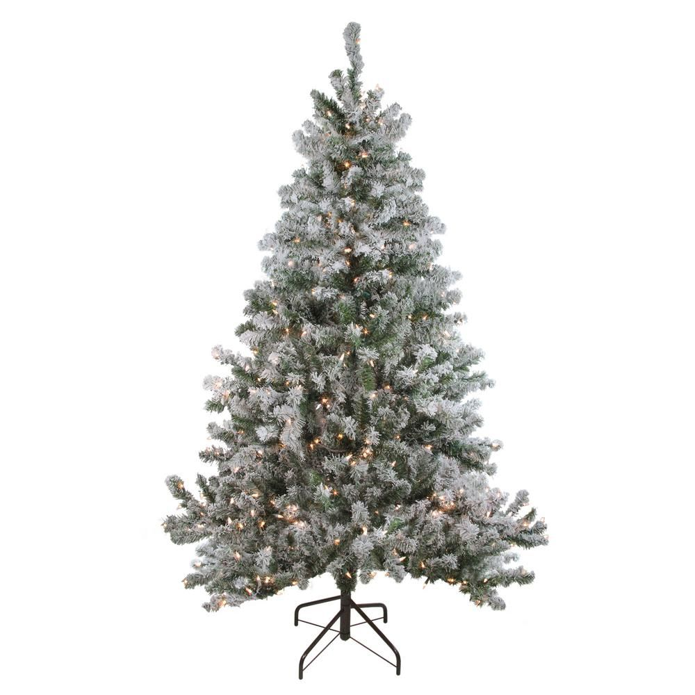 Slim Christmas Tree Costco: Northlight 72 In. Pre-Lit Flocked Balsam Pine Artificial