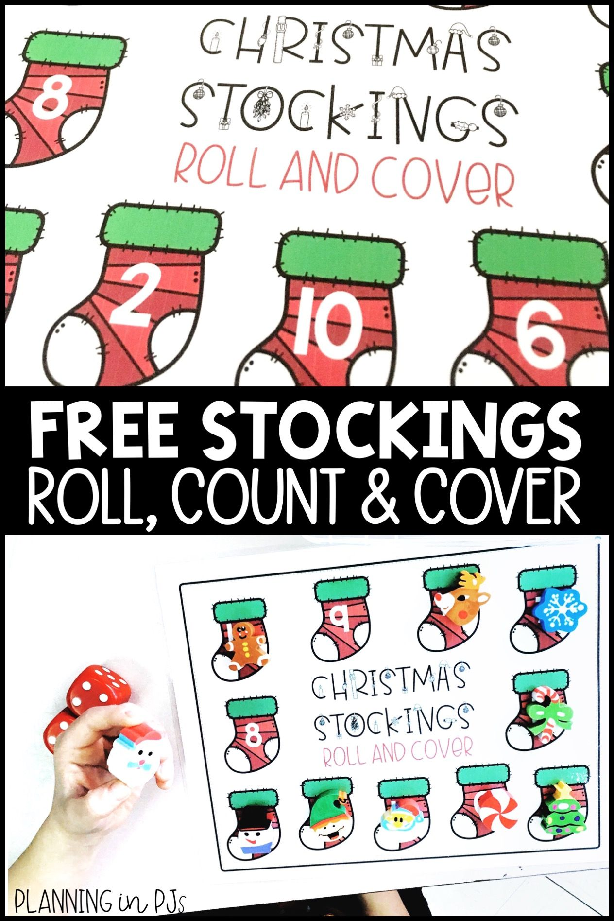 Christmas Stockings Roll Count And Cover Numbers Freebie