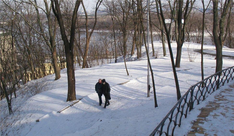 Украинская зима. Киевский парк.