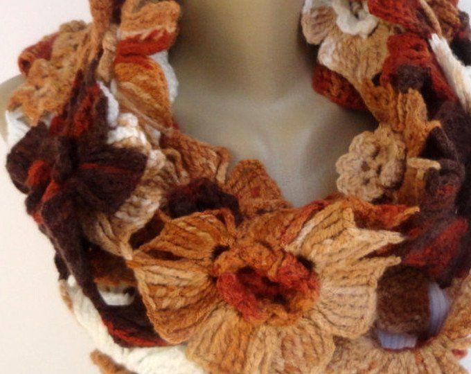 Bufanda mujer Alpaca bufanda Infinity bufandas Lariat bufanda grueso círculo bufanda bufanda ganchillo bufanda Floral regalos para ella Bufanda mujer Alpaca bufand...