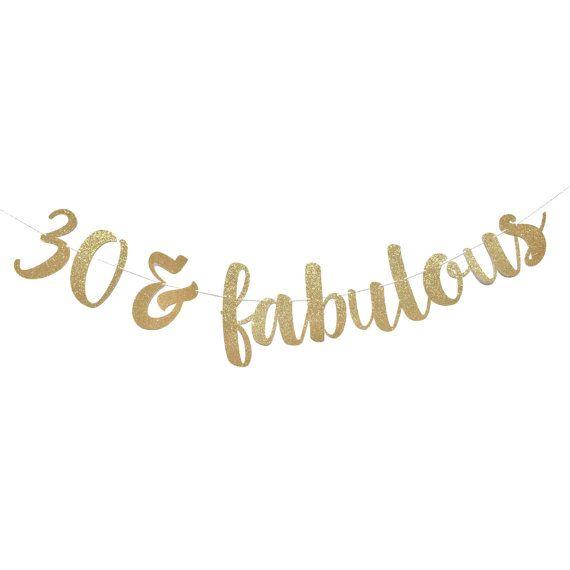 30 und Fabulous Schmutzige 30 30 von ShowPonyPartyShop auf Etsy