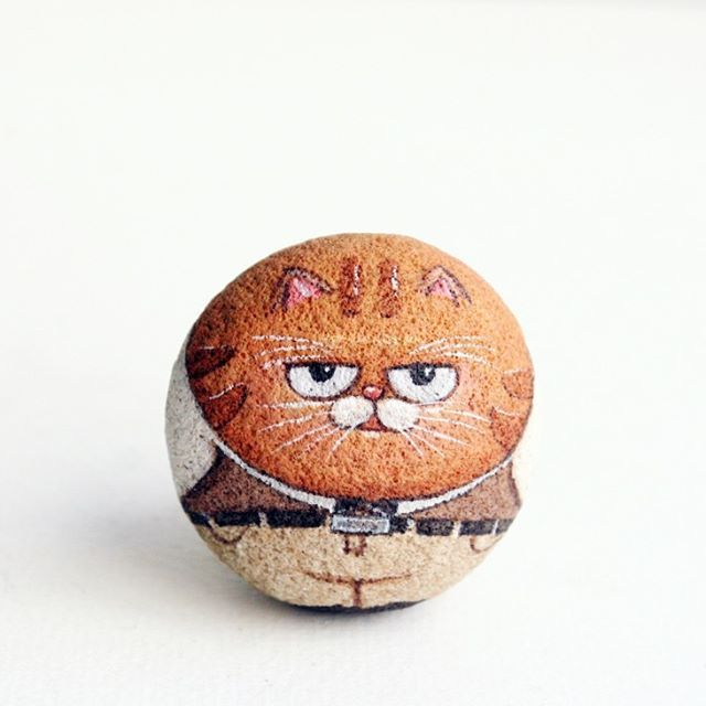 Look an me #cat #stonepainting #art #painting #stoneart #handmade #artforgift