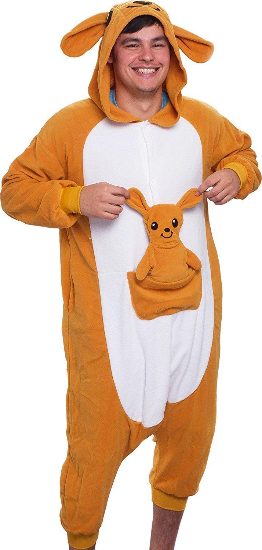 20c1a32883  24.99 -  26.99 Silver Lilly Unisex Adult Pajamas - Plush One Piece Cosplay  Kangaroo Animal Costume