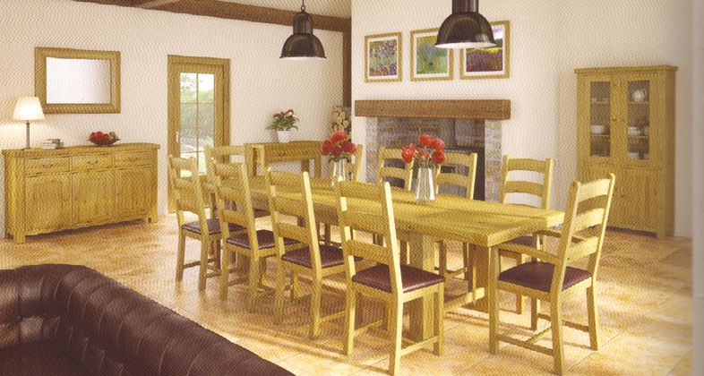 The Marbury Rustic Oak Dining Range Of Furniture Is A Truly