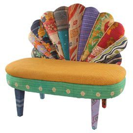 Tama Settee Bohemian Gypsy Home Decor Accent Chairs