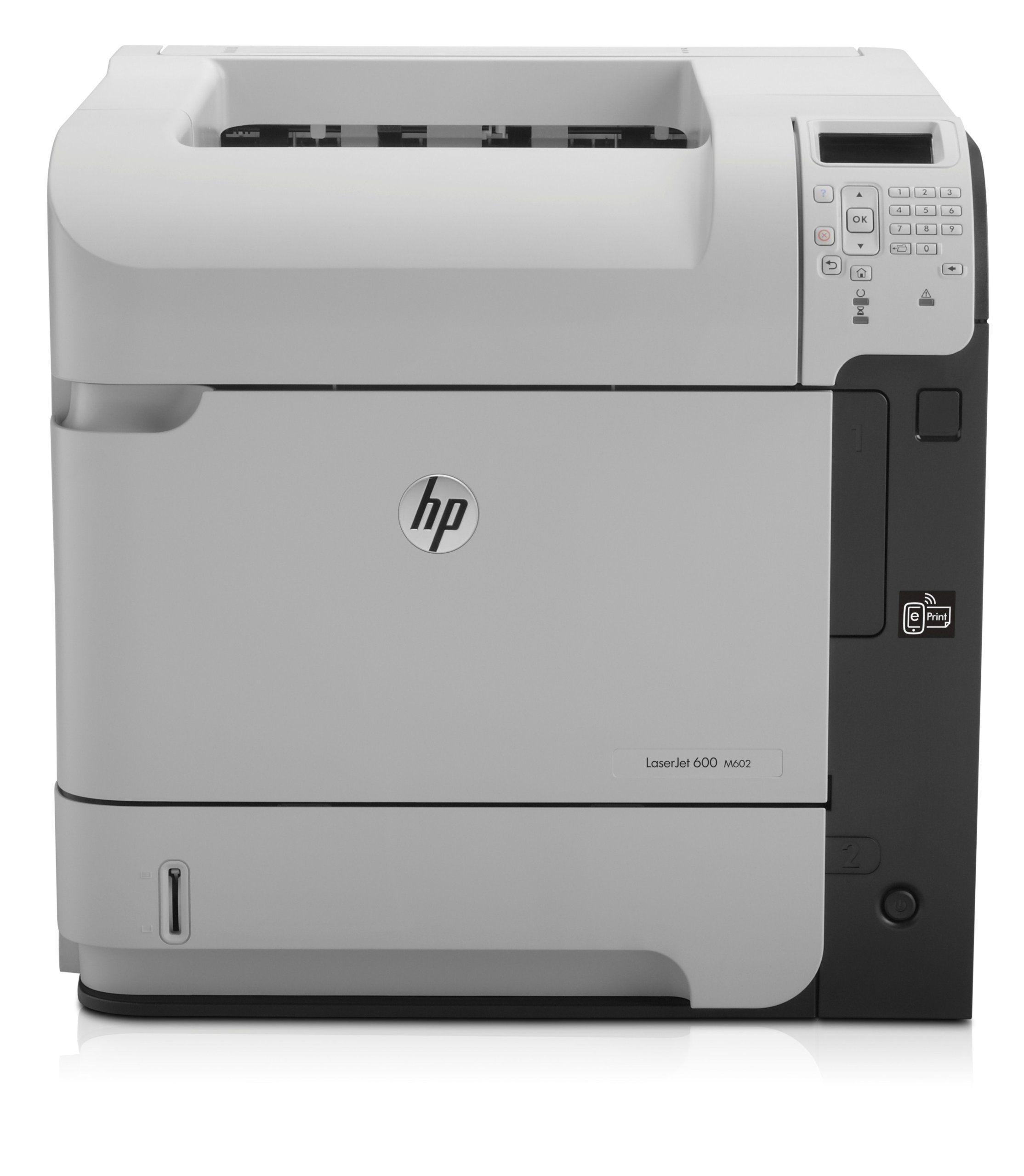 Hp Laserjet Ent 600 M602n Printer Print At Rapid Speeds On A Variety Of Paper Types Produce High Print Volumes With Low Main Hp Printer Laser Printer Printer