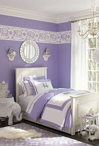 Pretty Lavender Bedroom With Images White Girls Rooms Purple