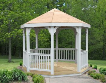 10Ft Vinyl Gazebo  10Ft Vinyl Gazebo This beautifully designed Vinyl Gazebo promises a blend of elegance and durability. Keep yourself cool and comfortable while hanging out in your garden area with our great collection of gazebos.