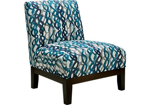 Basque Turquoise Accent Chair Blue