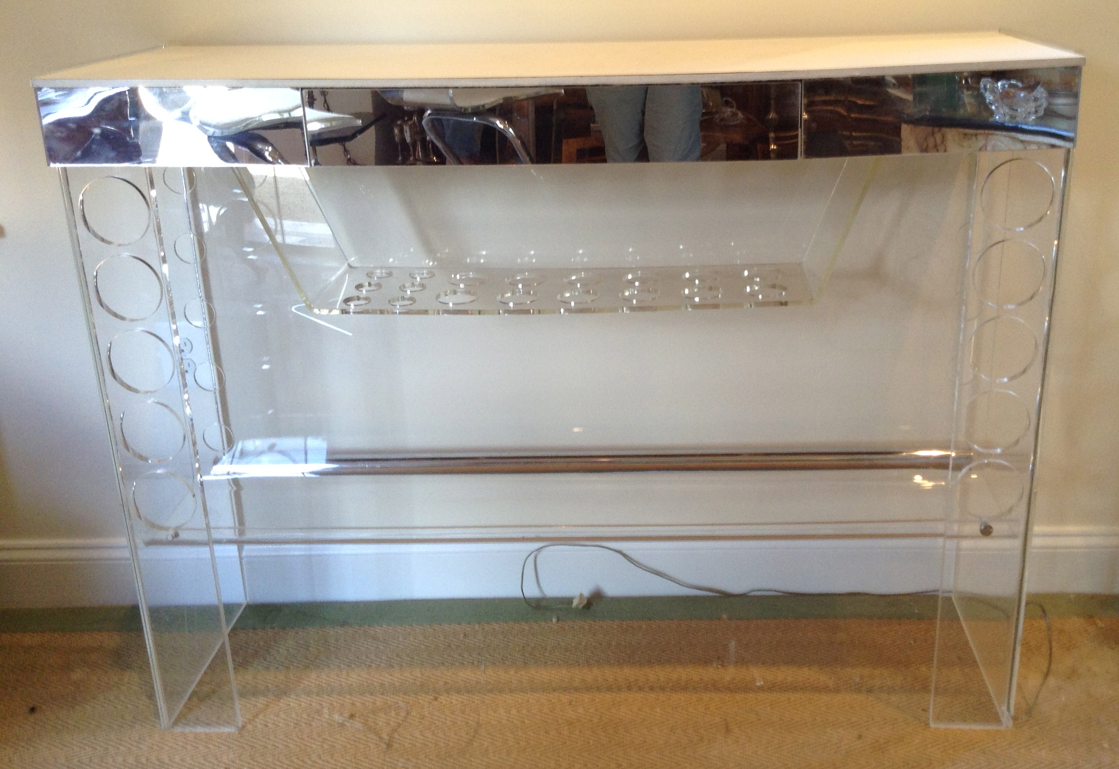 Lucite Bar Table