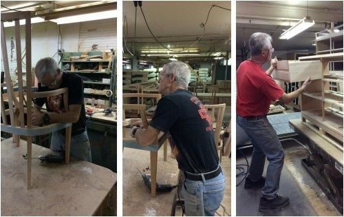 Pictured here are just a few of the talented, expert craftsmen who bring you the beautiful, Made in America furniture that you'll find here at Gallery Furniture! Stop by our 6006 N. Freeway, 7227 W. Grand Parkway or 2411 Post Oak Blvd. GF locations TODAY to check out our selection of these quality pieces! | Houston TX | Gallery Furniture |