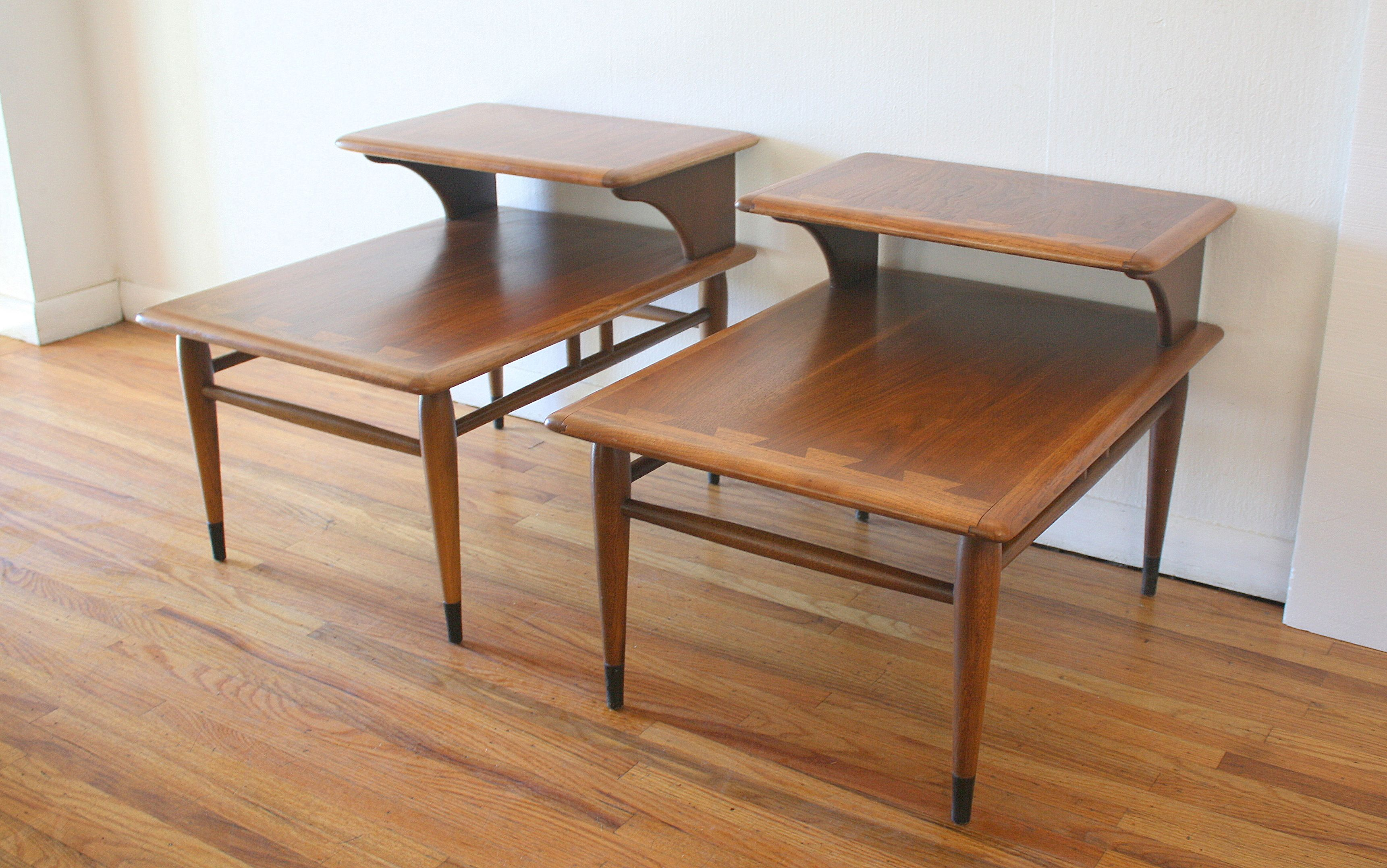 Lane Acclaim Pair Of 2 Tiered Side Tables 1 Modern Table Design Modern Table Dining Chairs