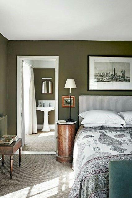 Deep Moss Green Green Bedroom Walls Grey Green Bedrooms Green