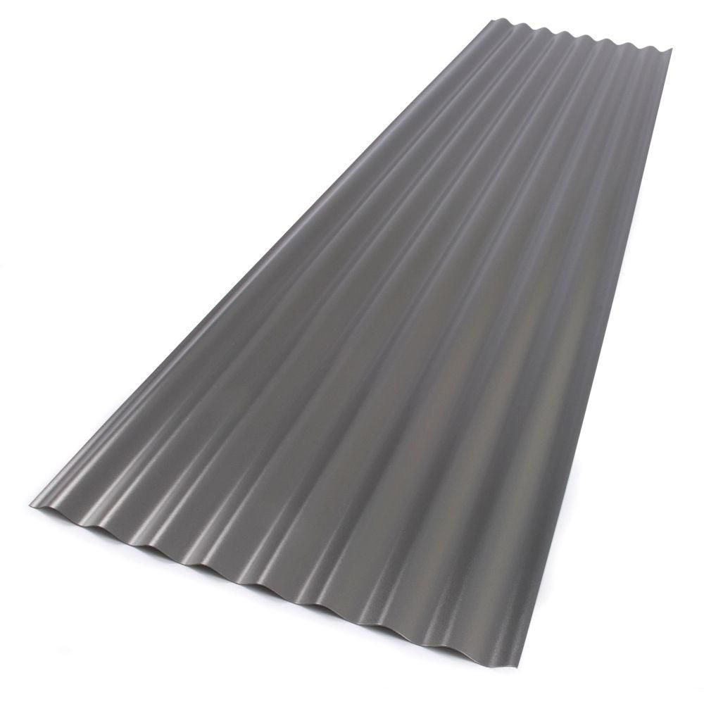 Suntop 26 In X 12 Ft Foamed Polycarbonate Corrugated Roof Panel In Castle Grey Roof Panels Polycarbonate Roof Panels Fibreglass Roof