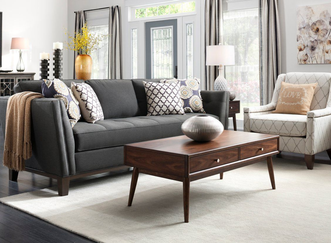 Macauley Sofa Living Room Lighting Design Interior Design
