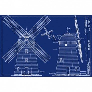 Beebe Windmill, Bridgehampton, Long Island, NY Front \ Side - fresh blueprint awards winners