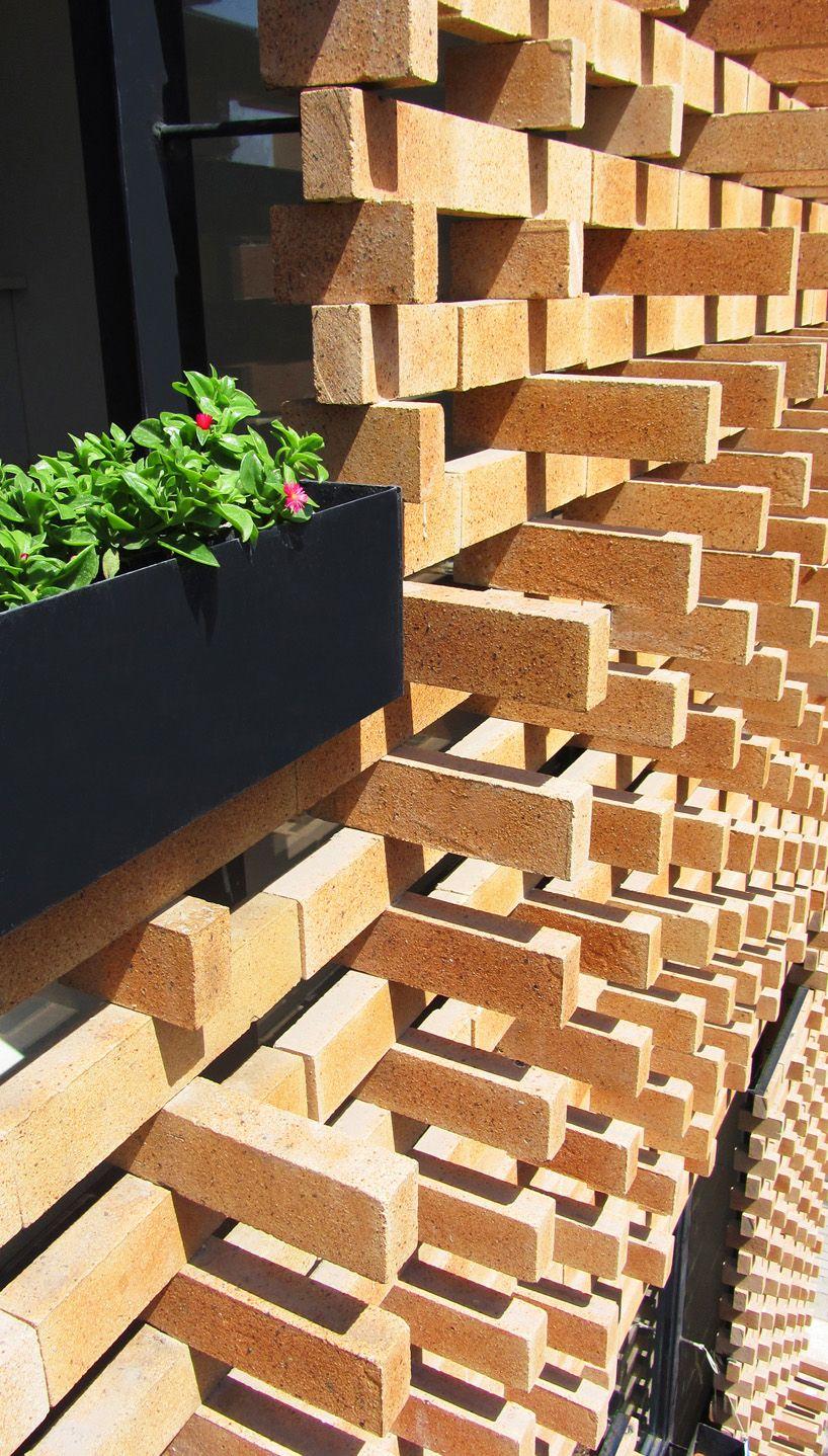 brick pattern house   alireza mashhadimirza   tehran  iran. brick pattern house   alireza mashhadimirza   tehran  iran