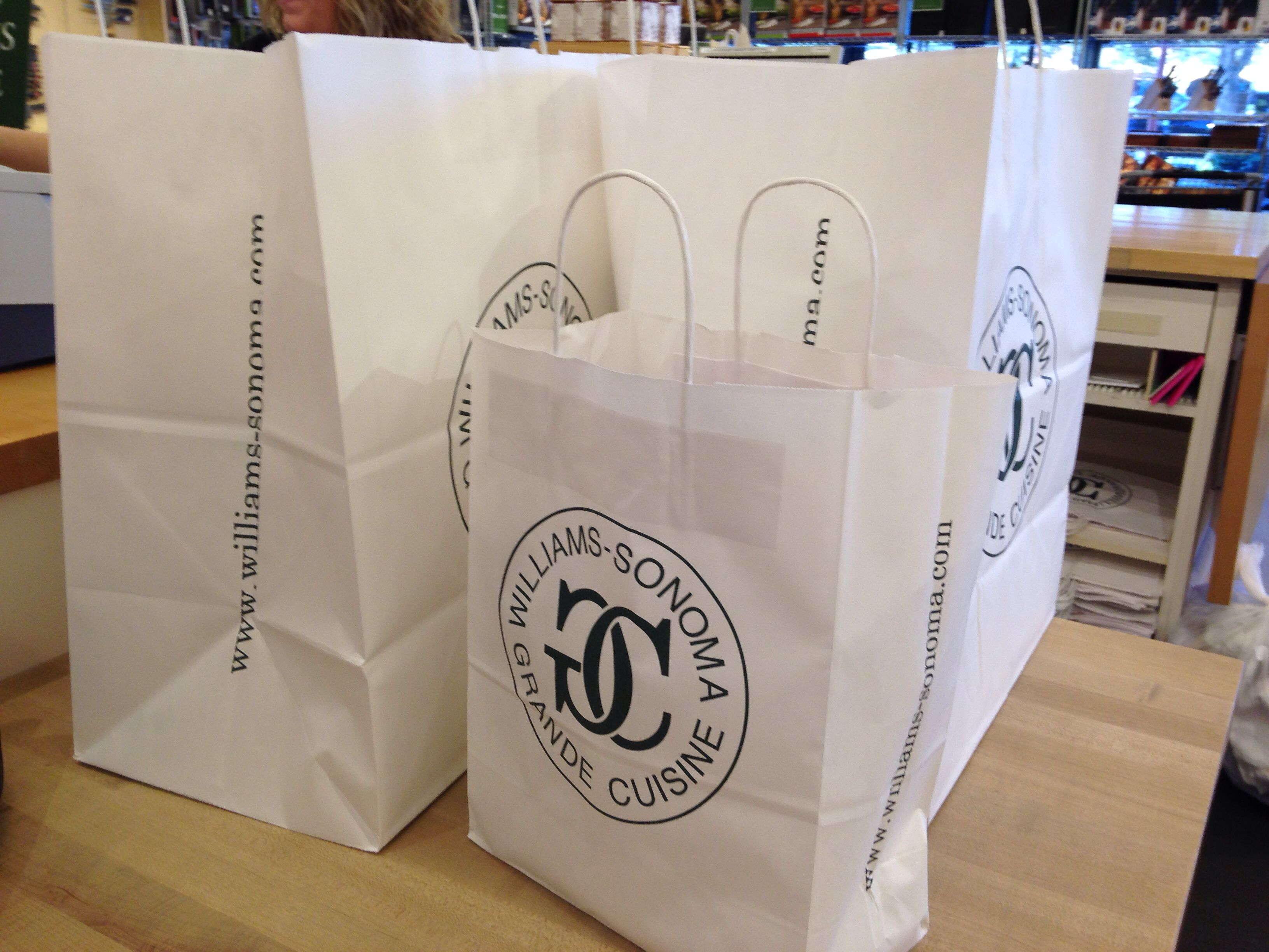 And 50 later at the williams sonoma outlet i take home