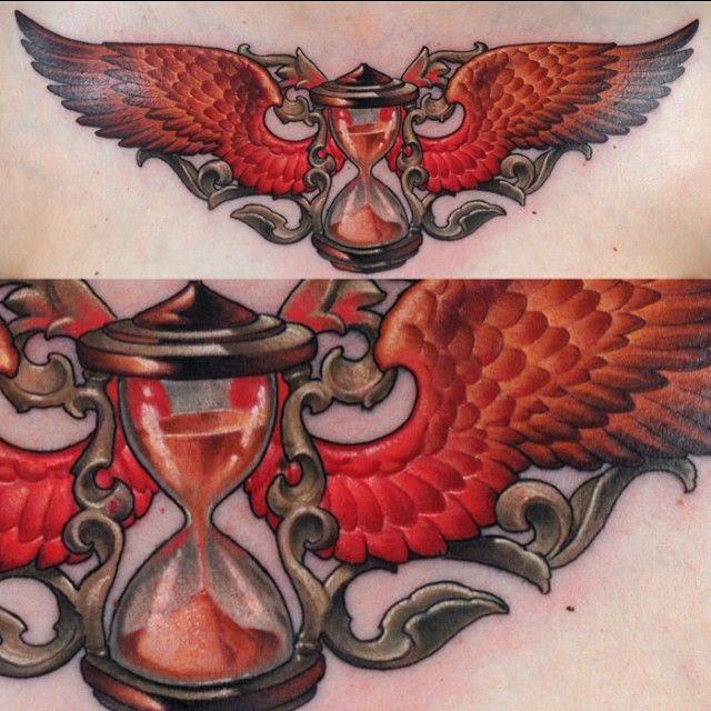 Orange Wings Hourglass tattoo Best Tattoo Ideas Gallery \u003c3