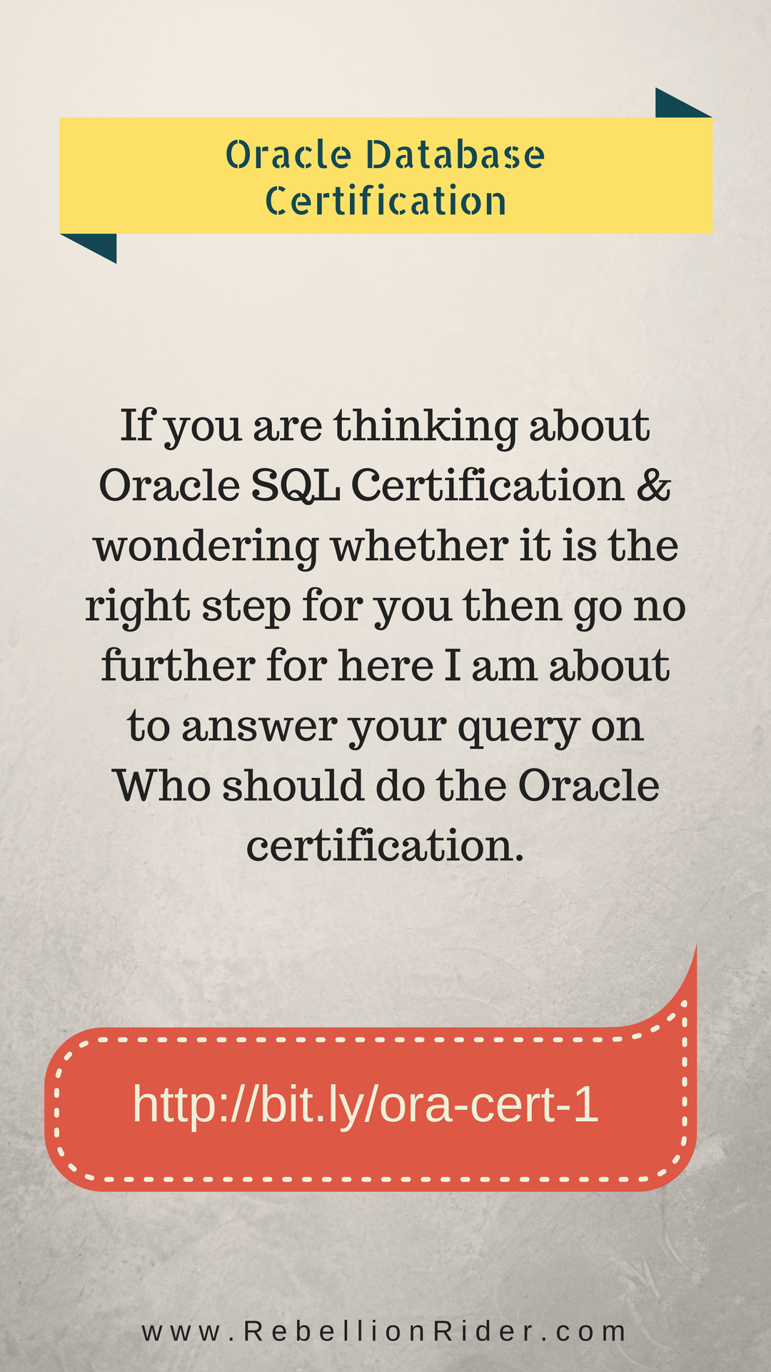 Who Should Do The Oracle Certification If You Are Thinking About