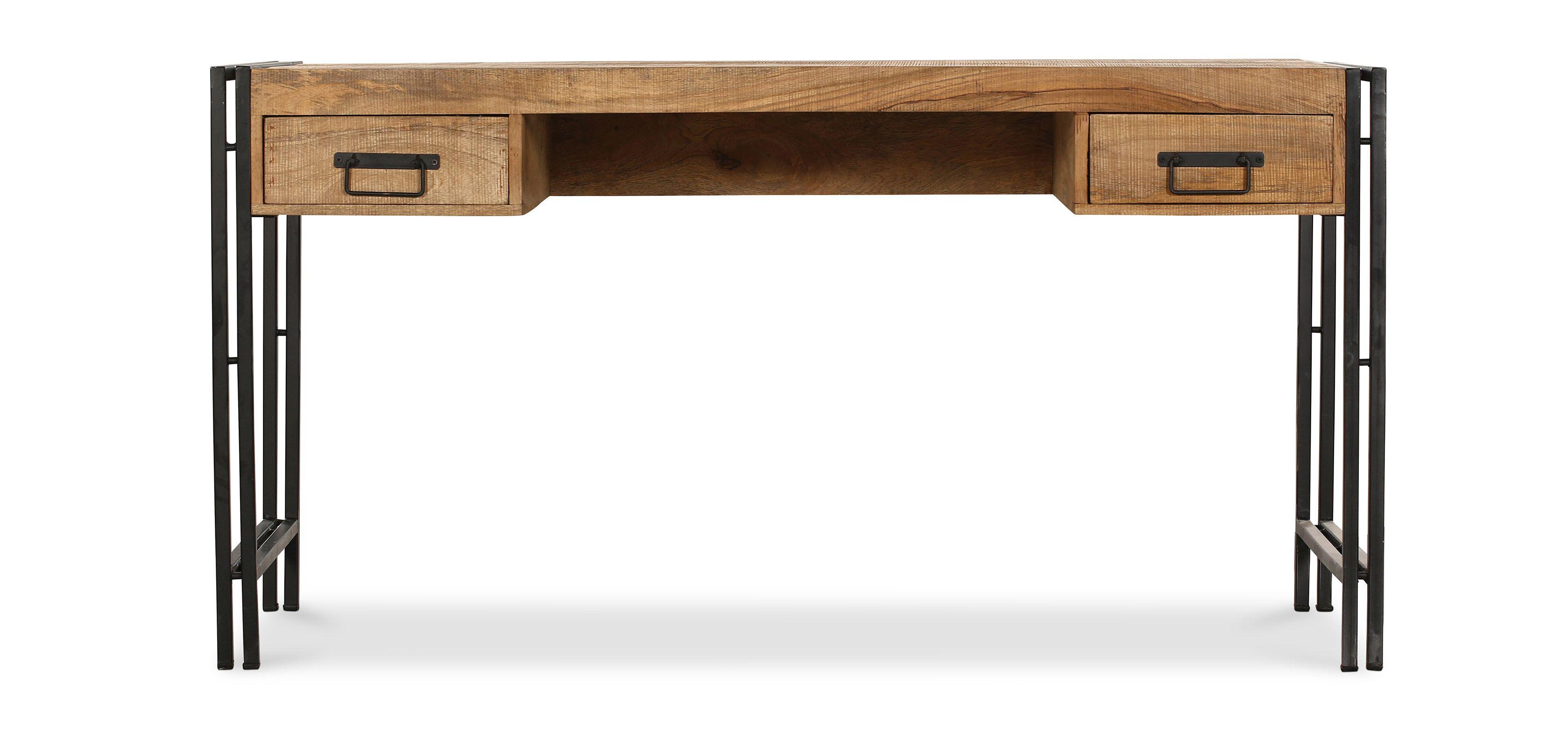 Bureau Metallique Industriel Vintage onawa bureau en bois style vintage industriel | bureau bois