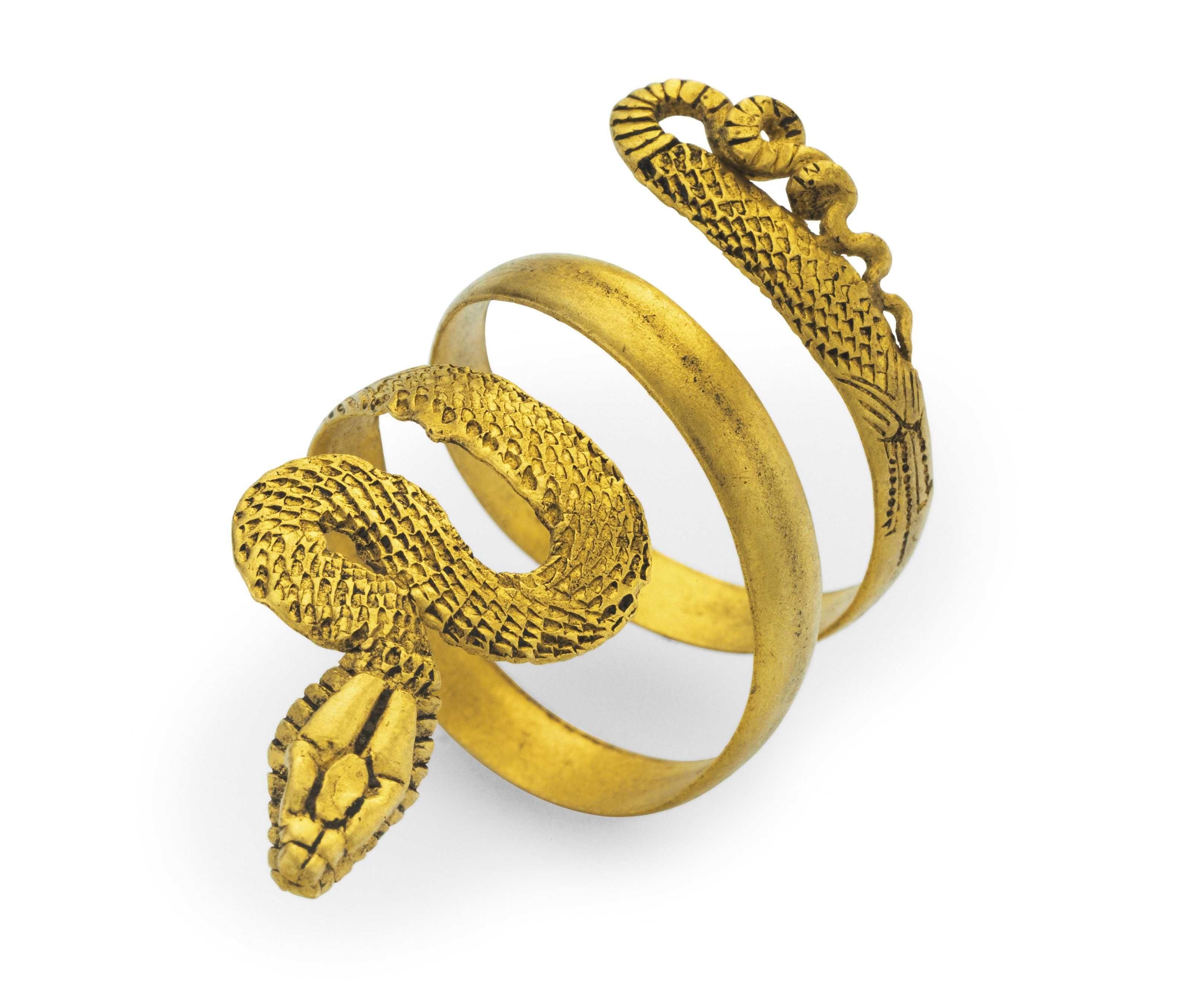 A Roman gold snake ring circa 1st century BC1st century AD