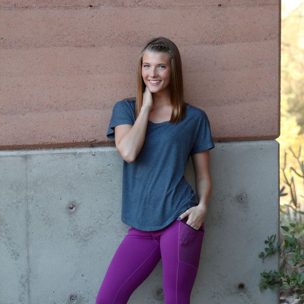 The Everyday Tee - Indigo Drapes perfectly, great for all body types.