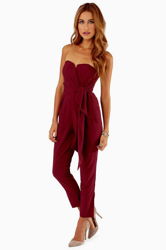 Knotty or Nice Jumpsuit $47 on Wanelo