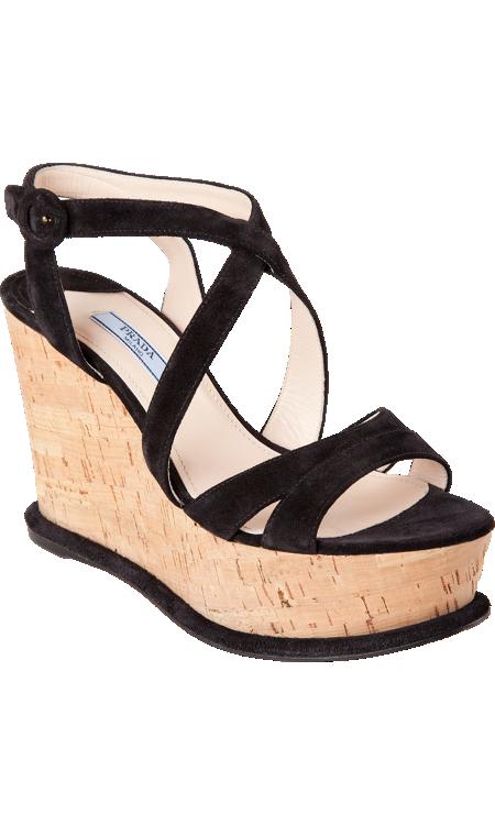 52e3b335ea639 Prada Cork Wedge Sandal   Shoes I love!   Wedge sandals, Wedges, Sandals