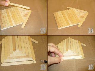 Con tus propias manos como hacer una casita alcancia con - Manualidades con palitos ...