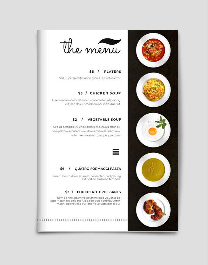 Catering Menu Template Catering Menu Design Cafe Menu Design Pizza Menu Design