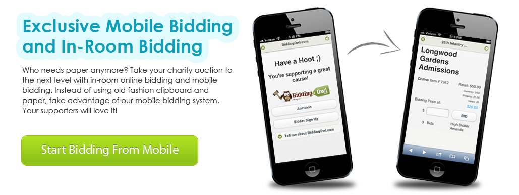 Bidding Owl Auction and Fundraiser Management Software
