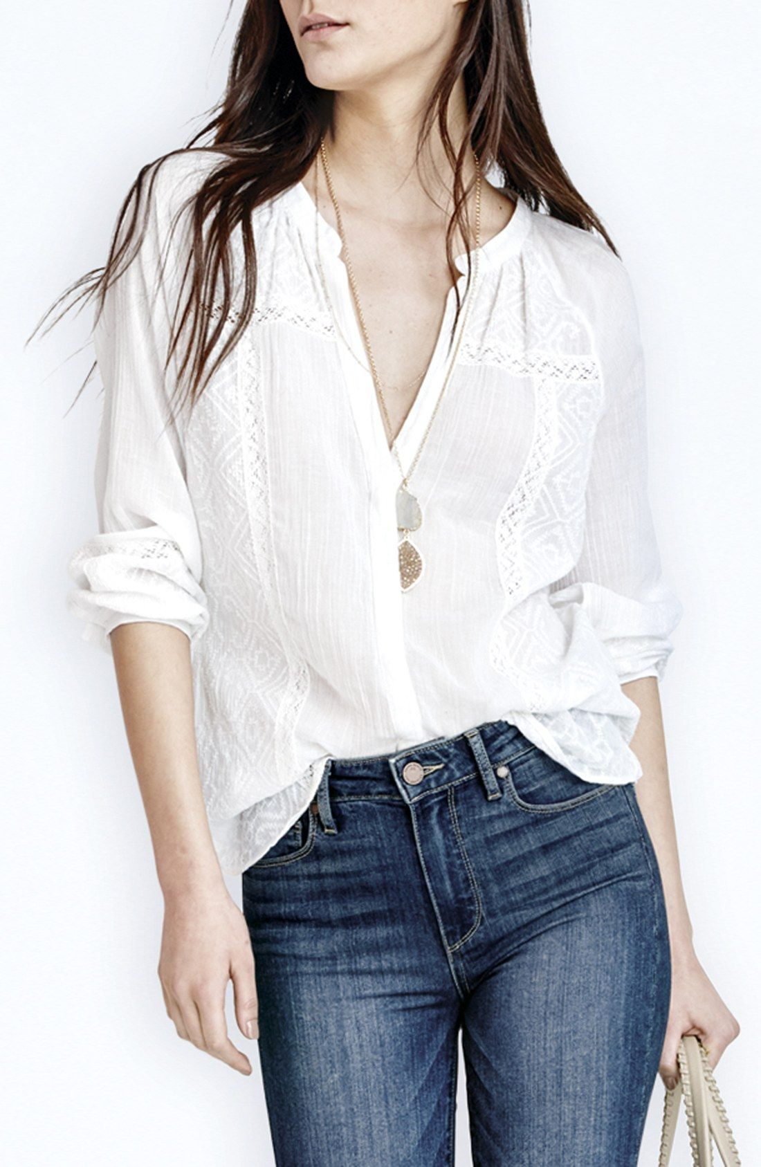 So breezy and versatile! This embroidered cotton top from Paige Denim will quickly become a wardrobe favorite.