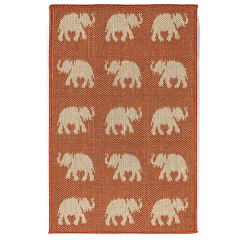 Lucky Elephants Indoor/Outdoor Rug