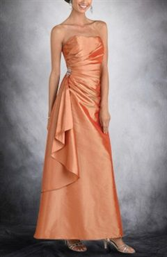Strapless Sleeveless A-line Ankle-length Bridesmaid Dresses