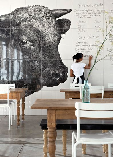 restaurant interior Handmade tiles can be colour coordinated and ...