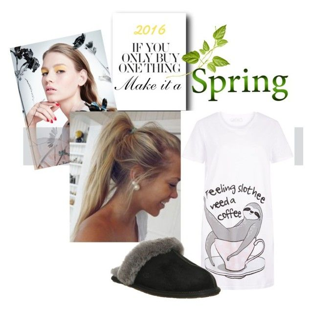 """""""Grace P.J.s 2"""" by bookworm2502 on Polyvore featuring New Look and UGG Australia"""