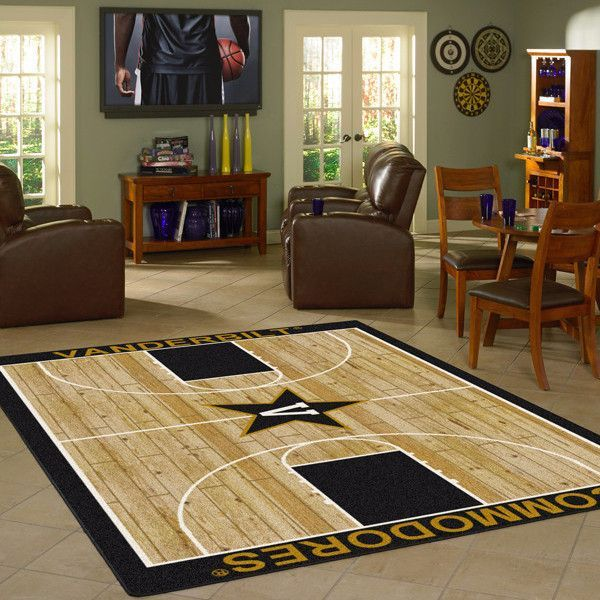 Vanderbilt Commodores NCAA Home Court Basketball Rug