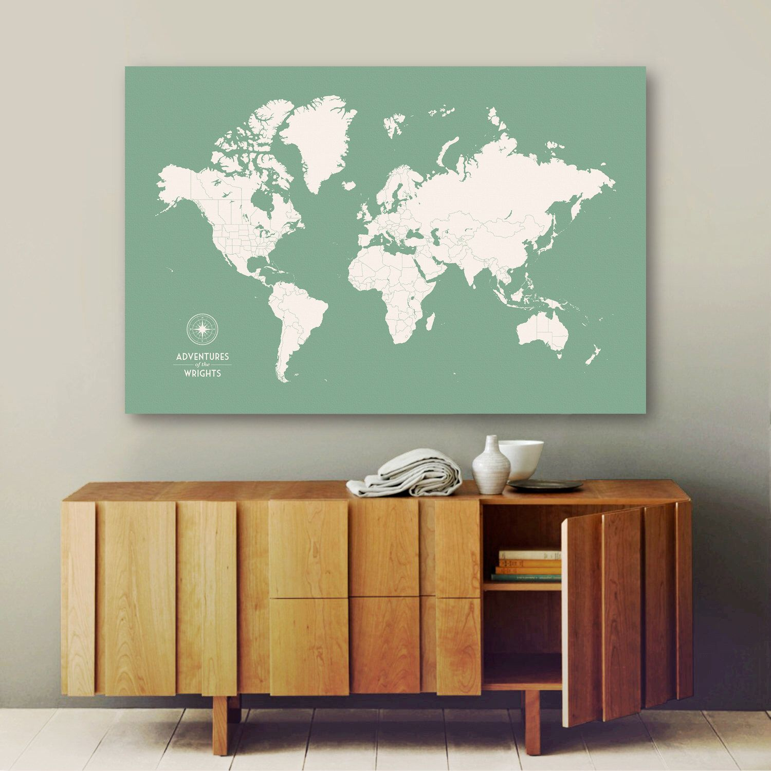 Push pin travel map world map push pin pin map custom map world personalized push pin map large canvas map large world map custom map gumiabroncs Image collections